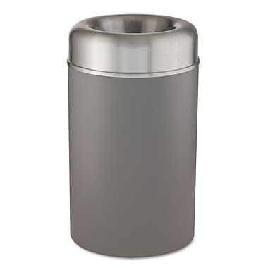 Rubbermaid® Crowne Collection 30 gal Open Top Receptacle, Silver/Gray