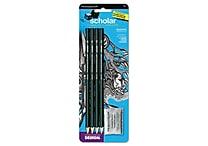 Prismacolor® 2 mm Scholar Graphite Pencil Set, 4/Set, Green