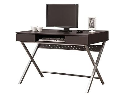 COASTER Connect-It Computer Desk, Cappuccino (800117)