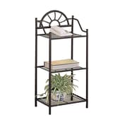"Coaster® 35 1/2"" x 16"" x 12"" Sunburst Three Shelf Telephone Stand; Black"