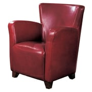 Coaster® Vinyl Solid Contemporary Accent Chair, Red