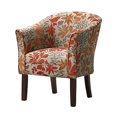 Coaster® Plush Autumn Leaves Traditional Accent Chair, Dark Brown