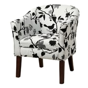Great COASTER Accent Seating Fabric Barrel Accent Chair, Black/White (460406)