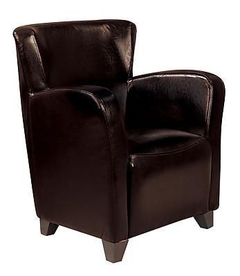 Coaster® Vinyl Solid Contemporary Accent Chair, Dark Brown