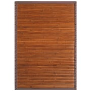 "Anji Mountain Contemporary Rug Bamboo 7"" x 10"" Chocolate (AMB0031-0710)"