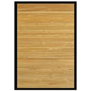"Anji Mountain Rug Bamboo 6"" x 9"" Contemporary Chocolate (AMB0036-0069)"