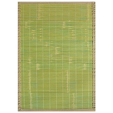 Anji Mountain – Tapis Key West en bambou, 5 x 8 po, vert (AMB0070-0058)