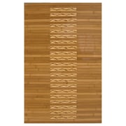 "Anji Mountain High Gloss Inlaid Kitchen & Bath Mat Bamboo 24"" x 36"" Brown (AMB0090-0023)"