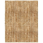 "Anji Mountain Natural Boucle Hand Spun Jute 9"" x 12"" Area Rug with Tucked Ends (AMB0300-0912)"