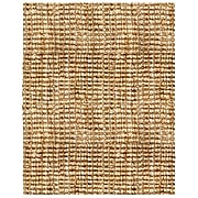 Anji Mountain Natural Boucle Hand Spun Jute 9' x 12' Area Rug with Tucked Ends