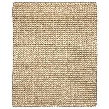 Anji Mountain Ribbed Loop Pile Natural Wool and Jute Area Rug Jute 8