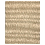 "Anji Mountain  Ribbed Loop Pile Natural Wool and Jute Area Rug Jute 8"" x 10"" Zatar"