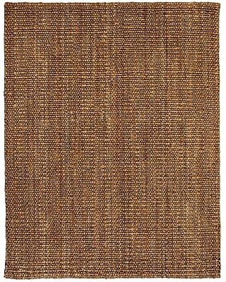 Anji Mountain Mira Tan and Silver Grey Area Rug Natural Fiber 5' x 8' Transitional