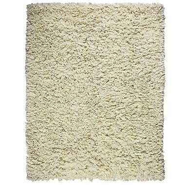 Anji Mountain Creme Paper Shag Viscose 5' x 8' Area Rug (AMB0451-0058)