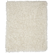 Anji Mountain Ivory White Silky Shag Area Rug Chenille 3' x 5' Transitional (AMB0651-0035)