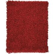 Anji Mountain Crimson Silky Shag Rug Chenille 8' x 10' Red (AMB0652-0810)