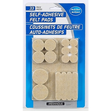 Merangue Self-Adhesive Felt Pads, 33 Pack