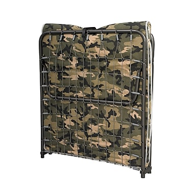 Linon Lione Camouflage Folding Cot With Steel Frame and Mattress