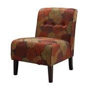 Linon Fabric Slipper Chair, Red/Orange (36096HAR-01-KD-U)