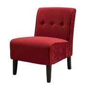 Linon Fabric Slipper Chair, Red (36096RED-01-KD-U)