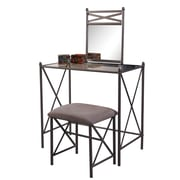 Linon Mission Hills Vanity Set With Bench, Gray