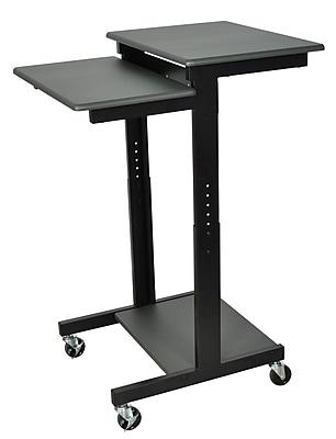 Luxor® PS Mobile Adjustable Height Presentations Workstation Cart, Gray
