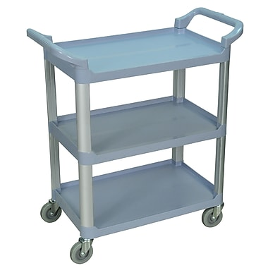 Luxor® 3 Shelves Dual Handle Serving Cart, Gray