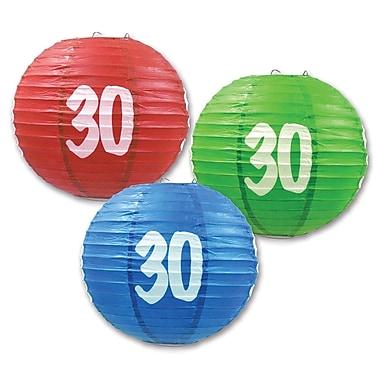 Lanternes en papier « 30 », 9 1/2 po, 6/paquet
