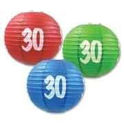 """30"" Paper Lanterns, 9-1/2"", 6/Pack"