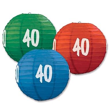 Lanternes en papier « 40 », 9 1/2 po, 6/paquet