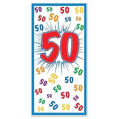 Affiche de porte « 50 », 30 po x 5 pi, 3/paquet