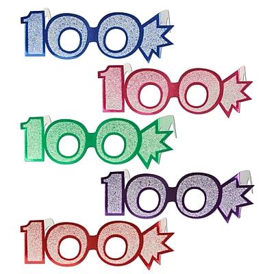 Beistle 100 Glittered Foil Eyeglasses, Assorted, 25/Pack