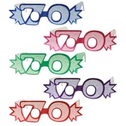 """""""70"""" Glittered Foil Eyeglasses, One Size Fits Most, 25/Pack"""