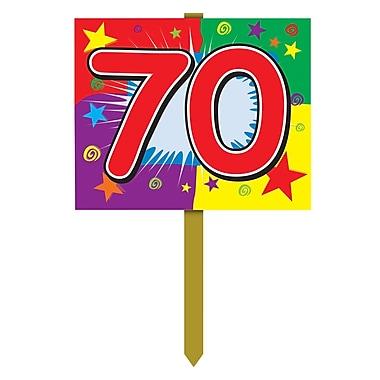 Panneau d'anniversaire de jardin « 70 », 12 po x 15 po, 4/paquet