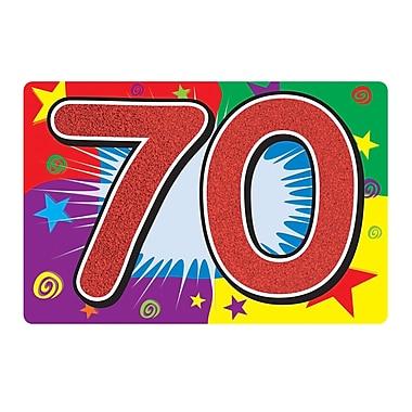 Affiche scintillante « 70 ». 10 x 15 po, 6/paquet