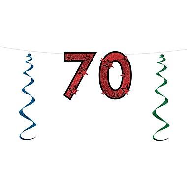 Banderole scintillante « 70 », 15 po x 7 pi, 3/paquet