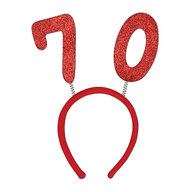 Beistle 70 Glittered Boppers, Red, 3/Pack