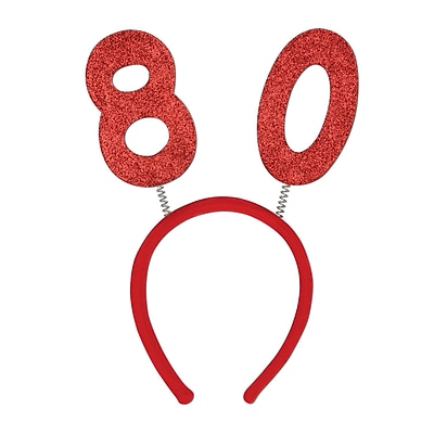 Beistle 80 Glittered Boppers, Red, 3/Pack