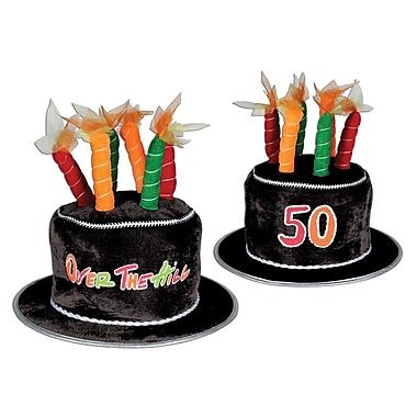 Chapeau peluche en forme de gâteau «50, Over-The-Hill», taille universelle, 1/paquet