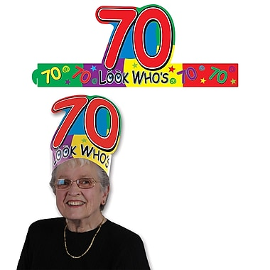 Look Who's 70 Headband, One Size Fits Most, 8/Pack