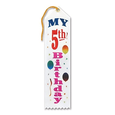 Ruban «My 5th Birthday», 2 x 8 po, 9/paquet