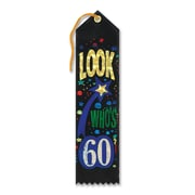 "Biestle 2"" x 8"" Look Who's 60 Award Ribbon, 9/Pack"
