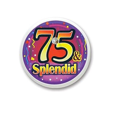 Bouton clignotant « 75 & Splendid », 2 po, 4/paquet