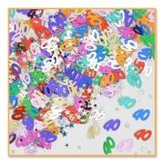Beistle 40 & Stars Confetti, Multicolor, 5/Pack