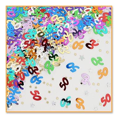50 & Stars Confetti, 5/Pack