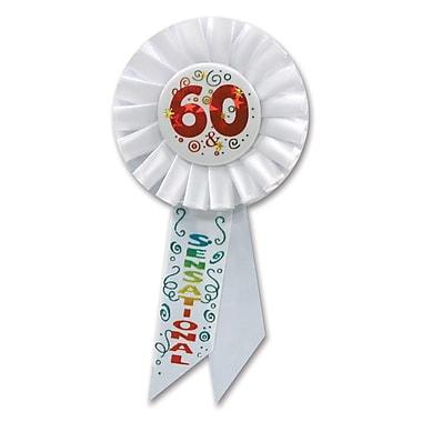 Rosette « 60 & Sensational », 3 1/4 x 6 1/2 po, 3/paquet