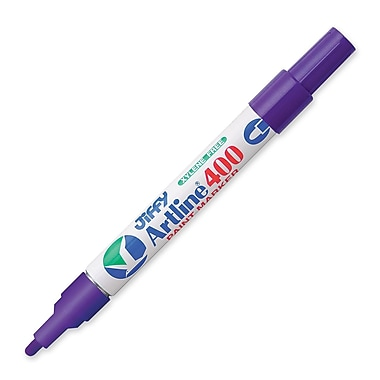 Jiffco® Artline Paint Marker, Medium Tip, Purple