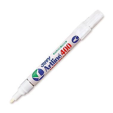 Jiffco® - Marqueur à peinture Artline, pointe moyenne, blanc