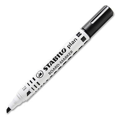 Stabilo® - Marqueur à tableau Plan 64 à pointe biseautée, noir