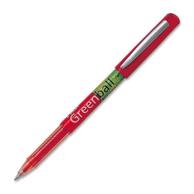 Pilot® - Stylo à bille roulante BeGreen Greenball, 0,7 mm, rouge